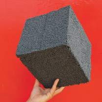 Microbilles isolantes grises agglomérées